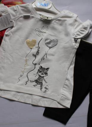 Комплект на девочку нарядный / футболка + шорти