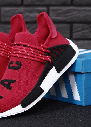Мужские кроссовки adidas x pharrell williams human race nmd red