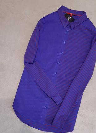 Рубашка в асимметричную полоску  размер 14 next