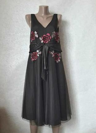 Новое нарядное  шикарное платье миди с пышной юбкой с фатина и...