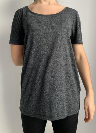 Футболка жіноча, чорна, сіра футболка, темно серая футболка.