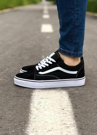 Женские кеды vans old skool black&white  😍