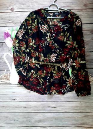 Стильная рубашка блузка шифоновая