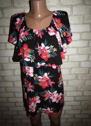 Красивая блуза футболка р-р 20-22 бренд m&s