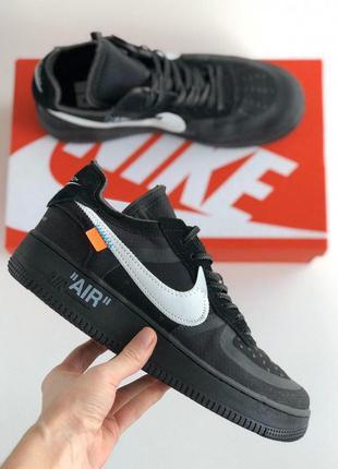 Мужские кроссовки nike air force 1 black😍