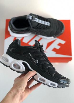 Мужские кроссовки nike air max plus tn black&white😍