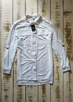 Стильная белая рубашка next