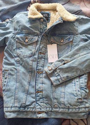 Куртка джинсовая мужская новая zara