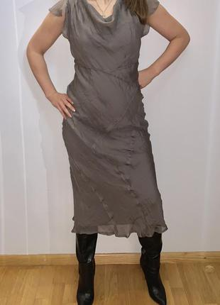 Платье миди шёлк mint velvet