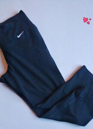 Капри nike,лосины укороченные, хлопок, одежда для фитнеса