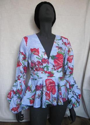 Крутая клутчатая блуза в стиле zara