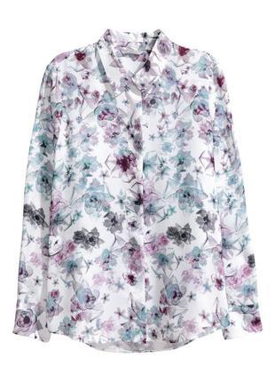 Рубашка в цветочный принт h&m