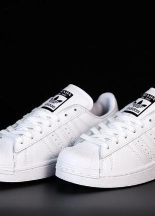 Женские кроссовки adidas superstar prada. white black