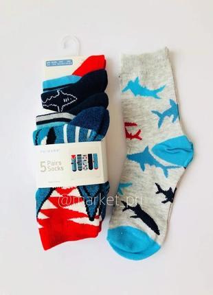 """Детские носки """"акула"""" примарк от 2 до 10 лет"""