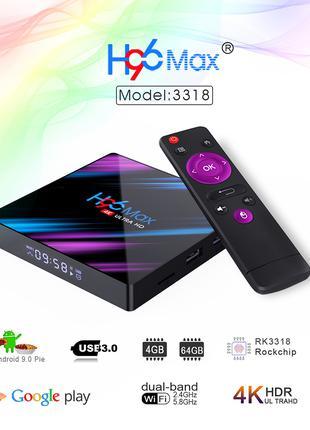 Смарт тв приставка H96 MAX 4GB/32GB Android 9.0