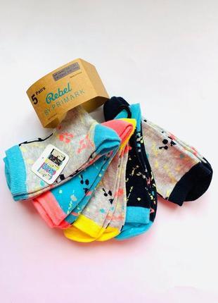 Детские носки primark  на 7-10 лет упаковка