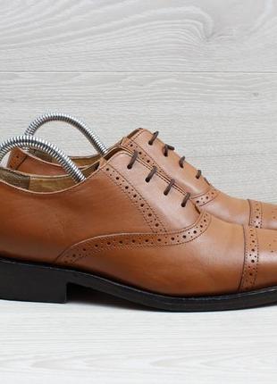 Кожаные мужские туфли / броги samuel windsor, размер 41 - 41.5