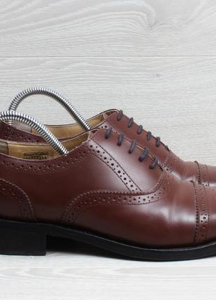 Кожаные мужские туфли / броги samuel windsor, размер 41.5