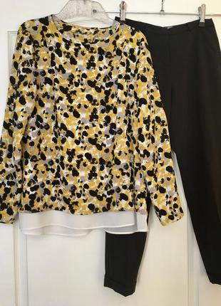 Блузка с принтом свободного кроя h&m