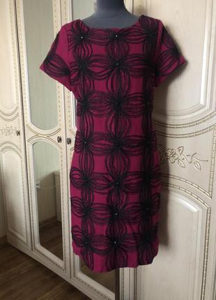 Роскошное шерстяное платье, нарядное тёплое платье, натуральна...