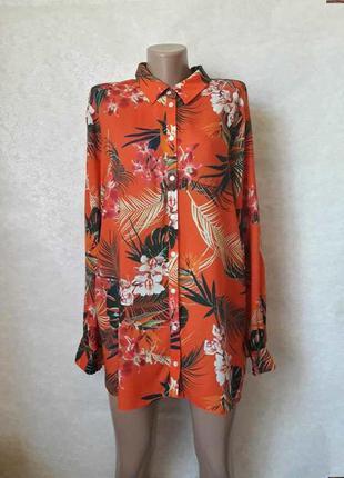 """Новая с биркой яркая лёгкая летняя рубашка/блуза в принт """"паль..."""