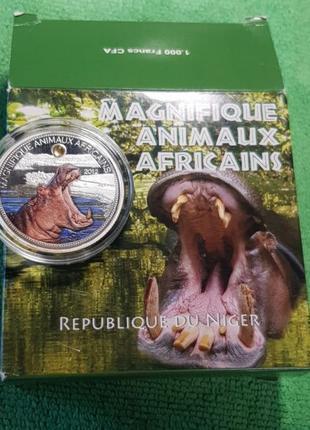 ! ЕДИНСТВЕННАЯ В УКРАИНЕ ! Цветная монета Бегемот Африка 2012 ...