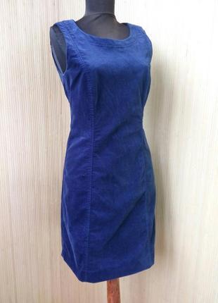 Велюровое платье футляр esprit s/m в деловом стиле / офисное