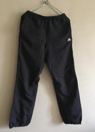 Брендовые штанишки спортивные на подкладке  с-м /темно -серые/