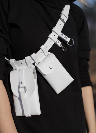 Тренд 2020-21 сумка поясная в утилитарном стиле. кобура.пояс с...