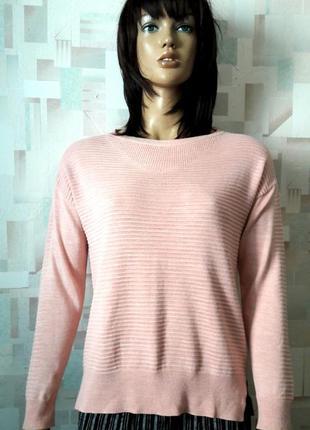 Стильный пудровый  джемпер свитер оверсайз от next