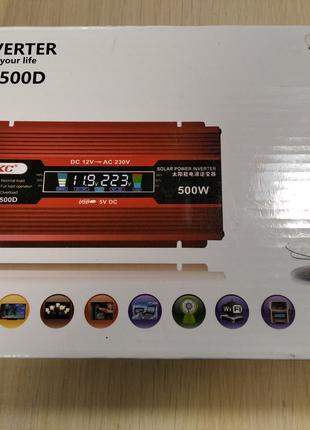 Срочно продам инвертор преобразотель UKC 500w с дисплеем