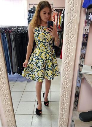 Пишное короткое платье,шикарное пишное платье в принт,платье д...