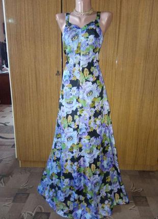 Шифоновое платье в пол с платком
