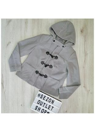 Серое весеннее пальто 42 размер,серое короткое пальто l-xl