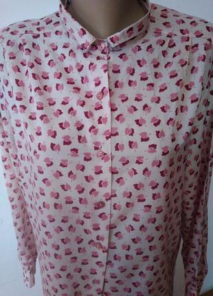Рубашка в ніжні листя осені блуза