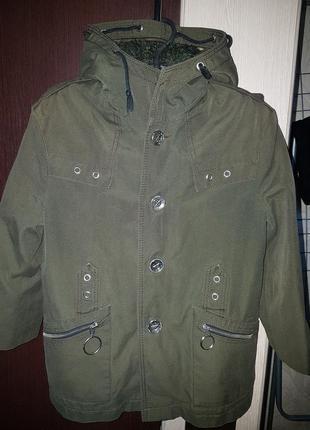 Куртка парка с подстежкой на рост 116-122