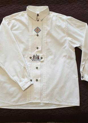 Блуза рубашка с вышивкой tranch & mode gaudialm