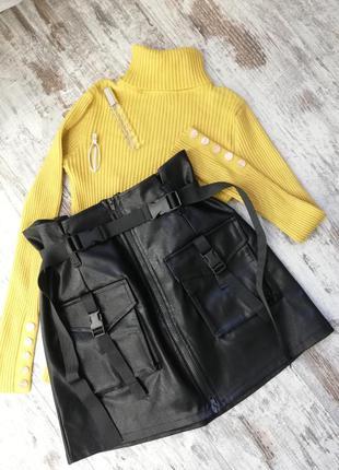 Юбка (m, l, xl), юбка мини, юбка кожа, юбка