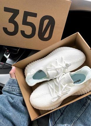 Adidas yeezy boost 350 white белые ♦ женские кроссовки ♦ весна...
