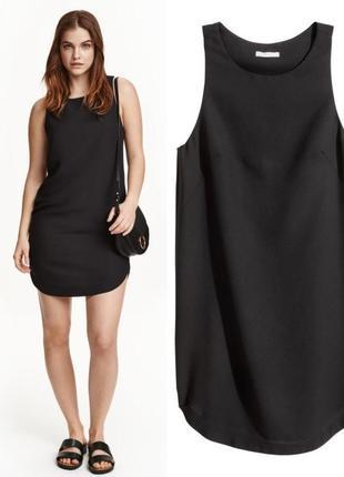 Черное прямое платье,платье без рукавов