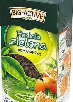 Чай зеленый Big-Active Orange, с апельсином 100 г (Польша)