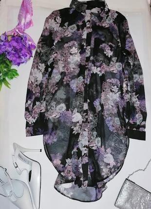 Рубашка- платье ,с разрезами . 👚 new look