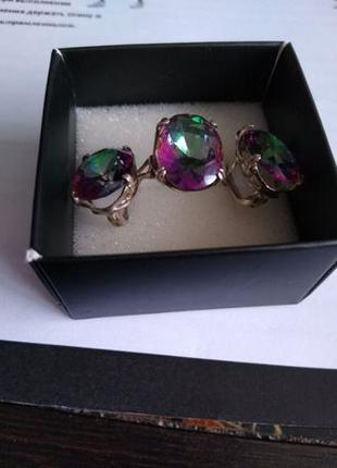 Комплект серьги + кольцо серебро 925
