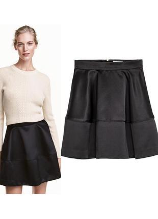 Сатиновая юбка,пышная мини юбка
