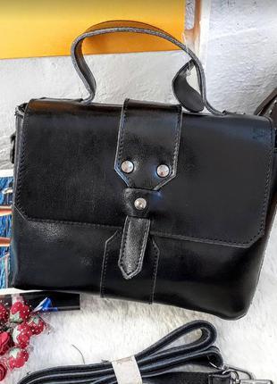 Распродажа , женский клатч кожаный черный