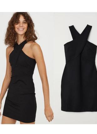 Черное нарядное платье мини