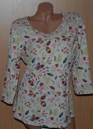 Блуза принтованая 100% хлопок бренда marks & spencer