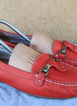 Мокасины tamaris кожа германия 42р туфли