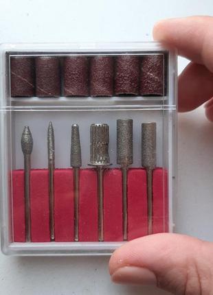 Набор фрез, насадок алмазных для фрезера
