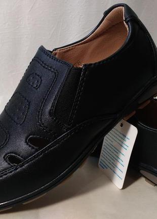 Кожаные туфли мокасины на мальчика 33,34,35,36,37,38 р.